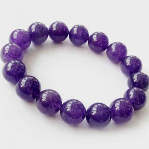 8 mm Purple Jade Gemstone Bracelet - The Nevermore Coven