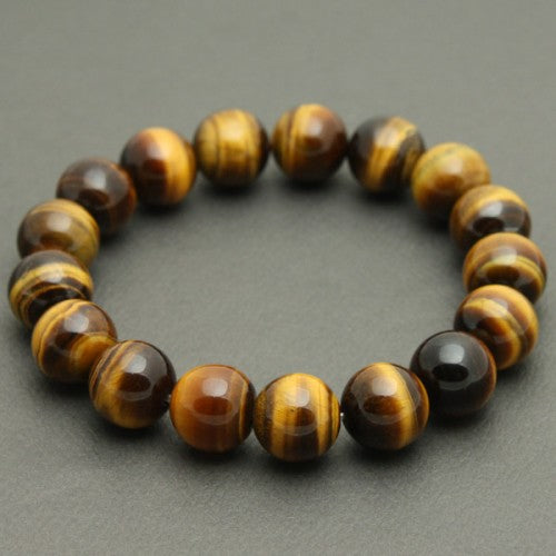 8 mm Tiger's Eye Gemstone Bracelet - The Nevermore Coven