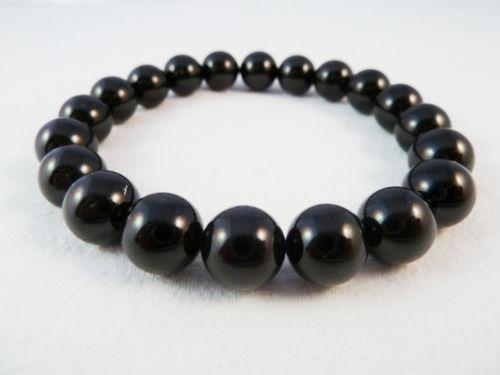 8 mm Obsidian Gemstone Bracelet - The Nevermore Coven