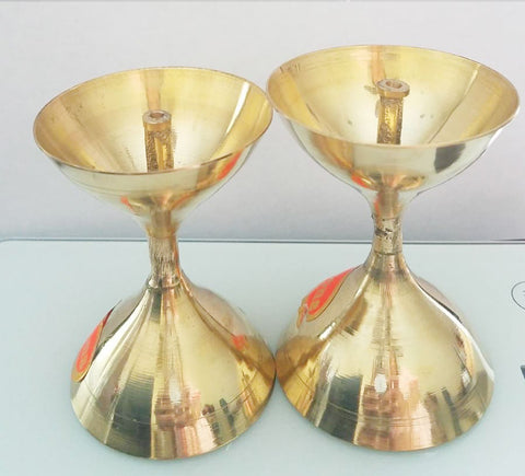 Brass Lamp/ Deep/Deepam Set of 2 for pooja