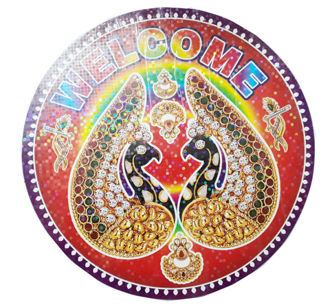 Round Welcome Stickers