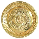 Brass Pooja Plate with Om Symbol