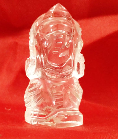 Pure Sphatik Prosperous Crystal Lord Ganesha Idol(Small)