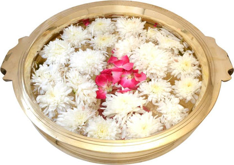 Brass Urli Bowl for flowers Can be used for pooja or decorative purpose