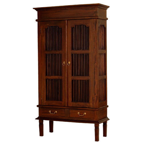 2+Door+2+Drawer+Seattle Teak Display Cabinet WTC288