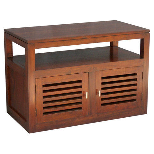 90cm San Diego-Teak-TV Console-Entertainment-Unit-in-Mahogany-or-Chocolate-WTC288TV-200-HSR-FL