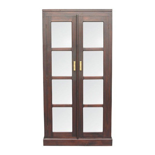 Los Angeles Teak Glass-Display-Cabinet-WTC288DC-200-PNM