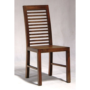 San Diego Teak Dining Chair without Cushion Chocolate or Mahogany Color WTC288CH 000HSR