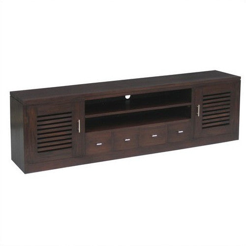 San Diego Teak TV Console 200cm-Entertainment-Unit-in-Mahogany-or-Chocolate-WTC288SB-204-HSF-FL
