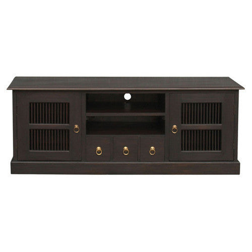 Seattle-2 Door-3-CD-Drawer-Teak TV Console Unit-Sideboard WTC288SB-203-DW