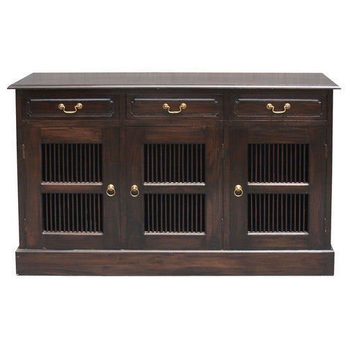 Seattle 3 Door-3-Drawer-Teak Buffet Sideboard-WTC288SB-303-DW
