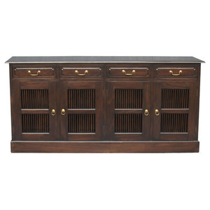 Seattle Teak Sideboard 4-Door-4-Drawer-Buffet-WTC288SB-404-DW