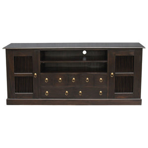 Seattle Teak TV Console-190cm-Entertainment-Unit-Buffet-in-Mahogany-or-Chocolate-Color-WTC288SB-207-DW