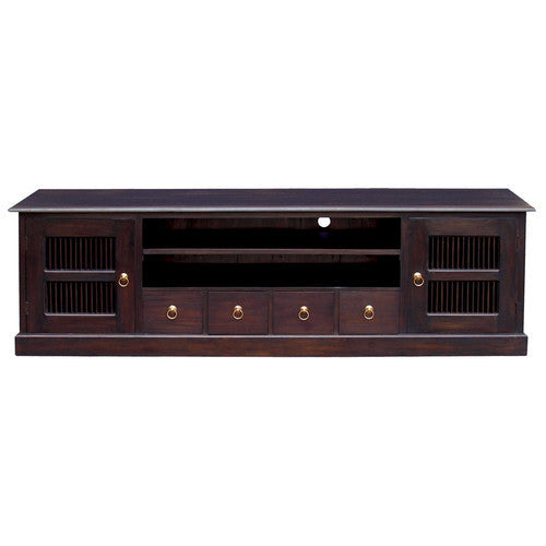 Seattle Teak TV Console 200cm-Entertainment-Unit-in-Mahogany-or-Chocolate-WTC388SB-204-DW