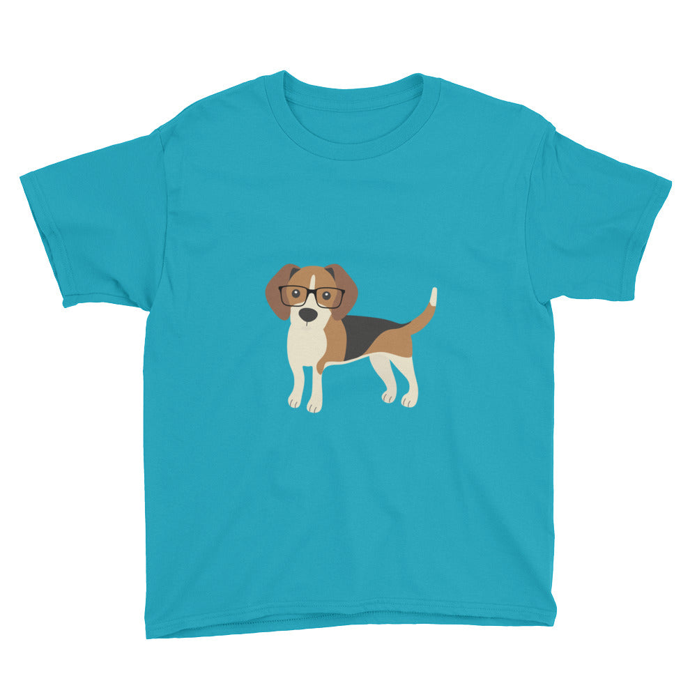 caribbean blue kids' beagle tee