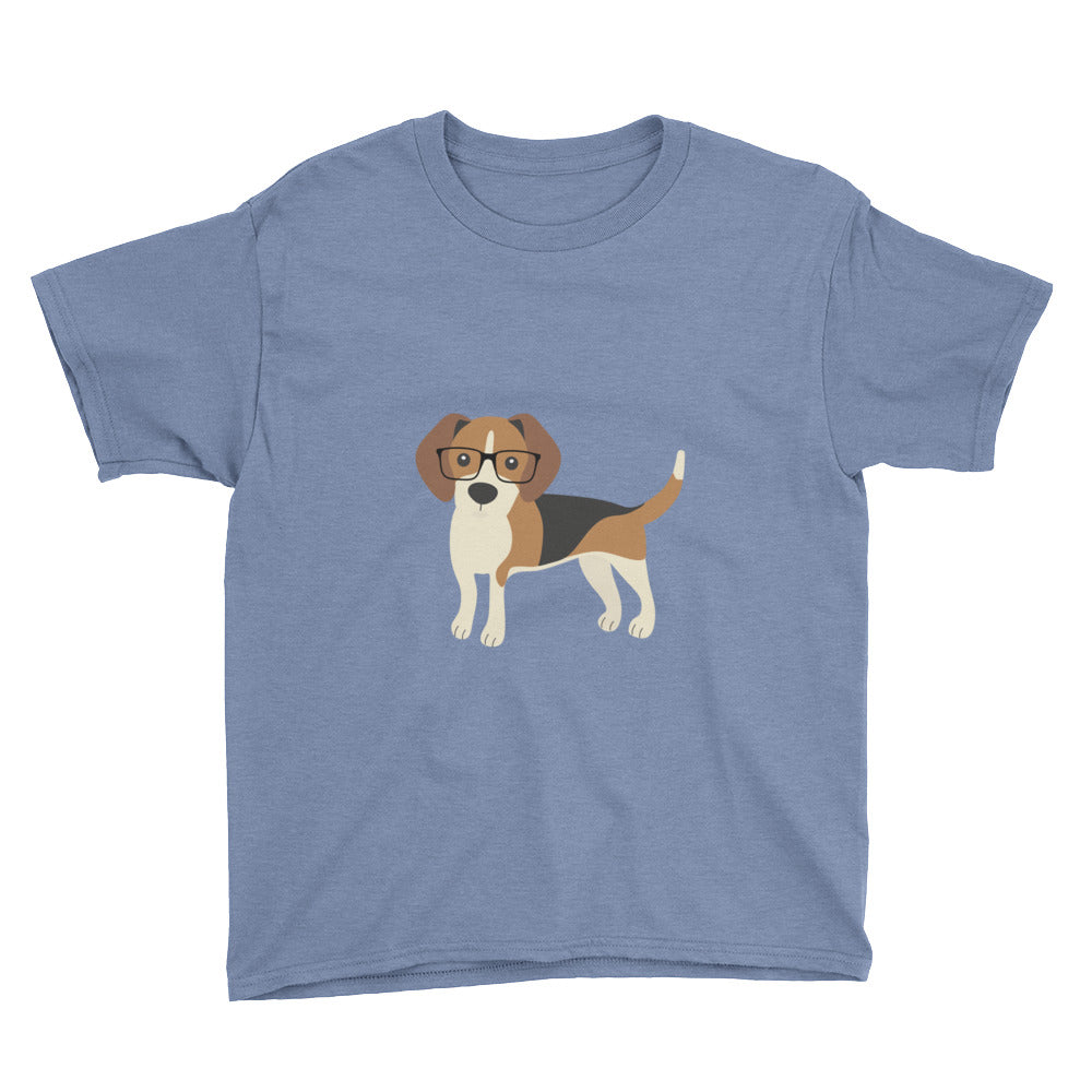 heather blue kids' beagle tee