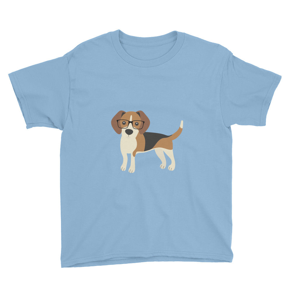 light blue kids' beagle tee