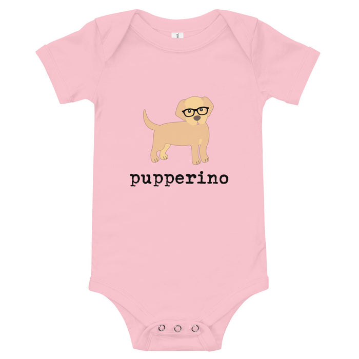 "Golden Retriever ""Pupperino"" baby onesie"