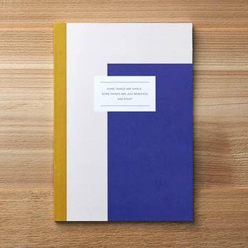 Here & Now Notebook - Some Things Are Simple