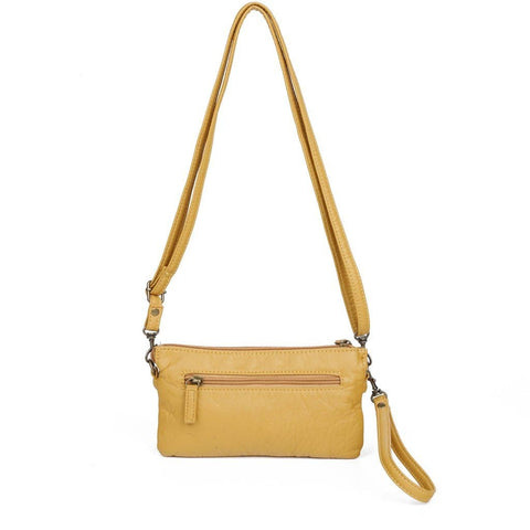 Anita Three Way Crossbody Wristlet - Mustard