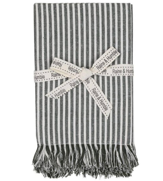 Abby Stripe Napkin Olive - Set of 4
