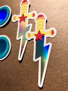Sky Sword Holographic Sticker