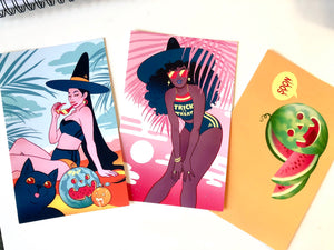 Summer Witches- 3 MINI-PRINT SET
