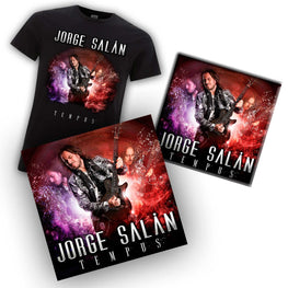 "Camiseta + LP + CD + DVD Jorge Salán ""Tempus"" + ""20 años no son nada"""