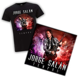 "Camiseta + CD + DVD Jorge Salán ""Tempus"" + ""20 años no son nada"""