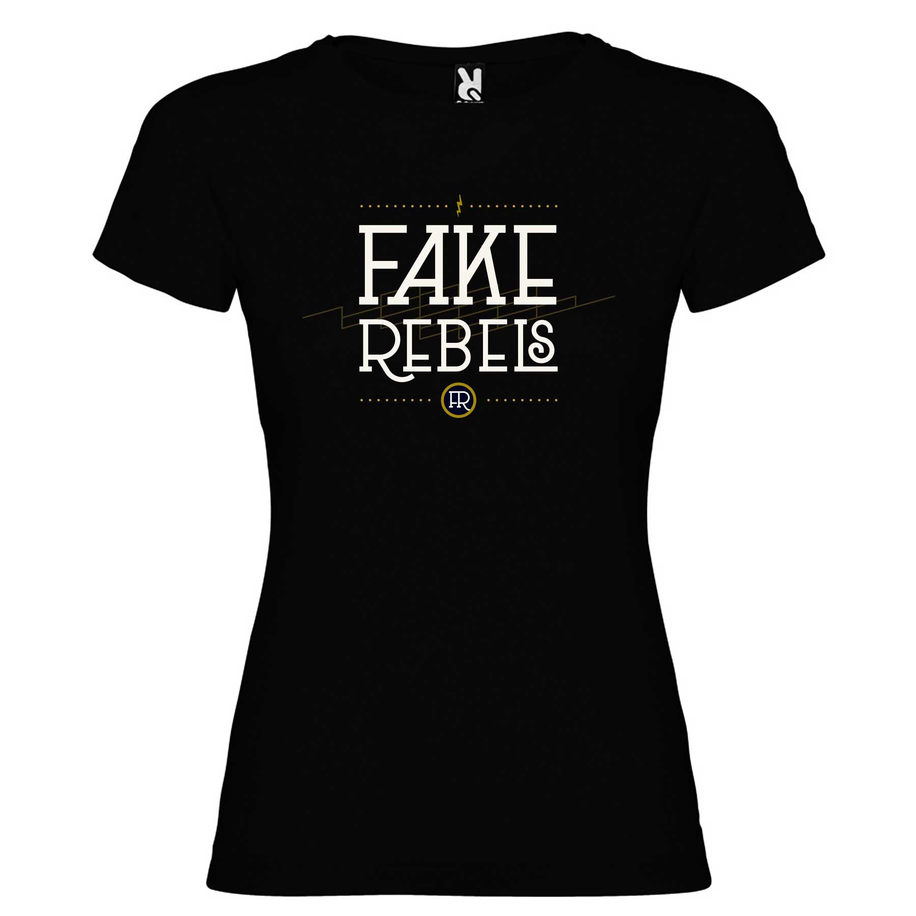Fake Rebels - Camiseta Logo Chica - Merchanfy Imprime tus camisetas