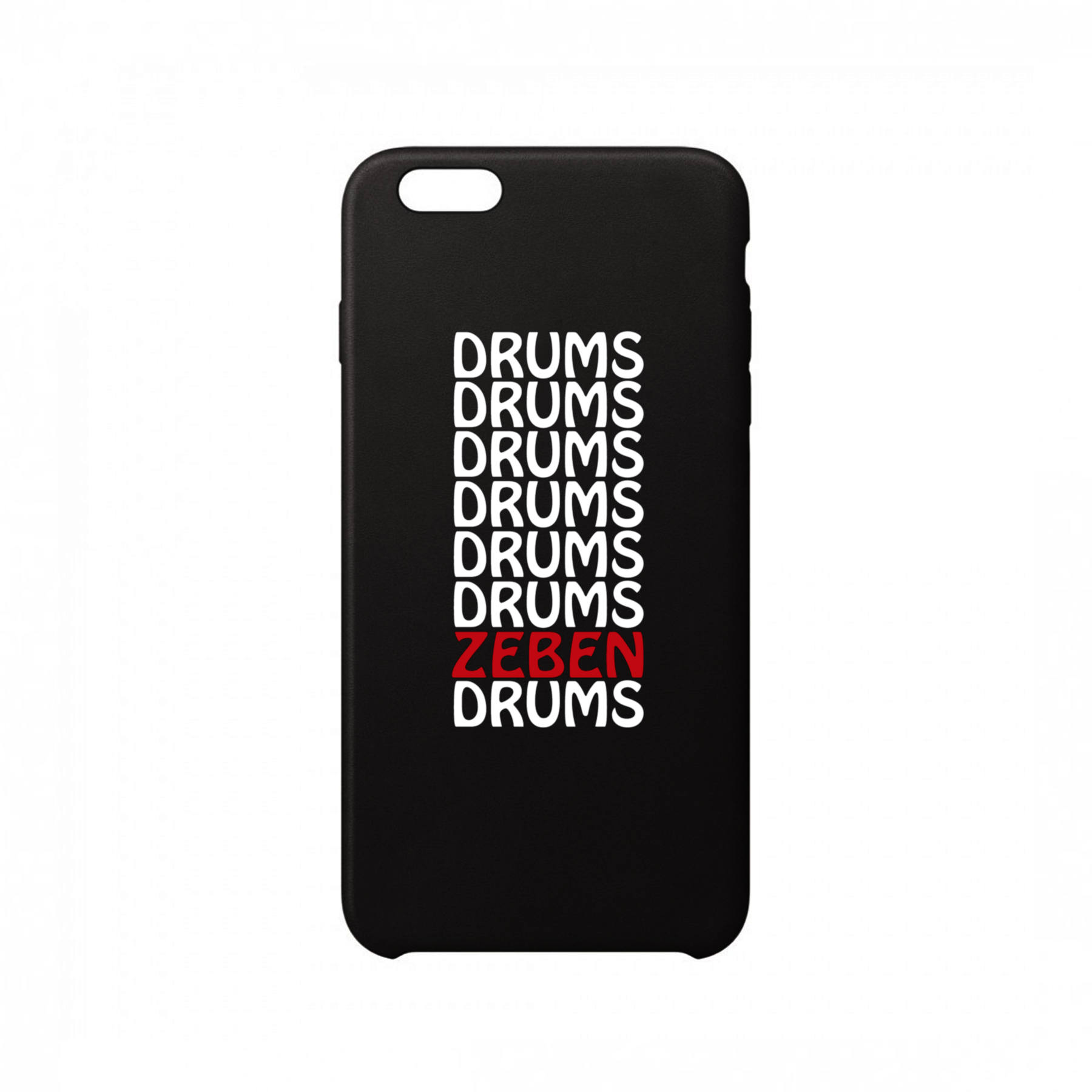 ZebenDrums - Funda Móvil Black Drums Drums - Merchanfy Imprime tus camisetas