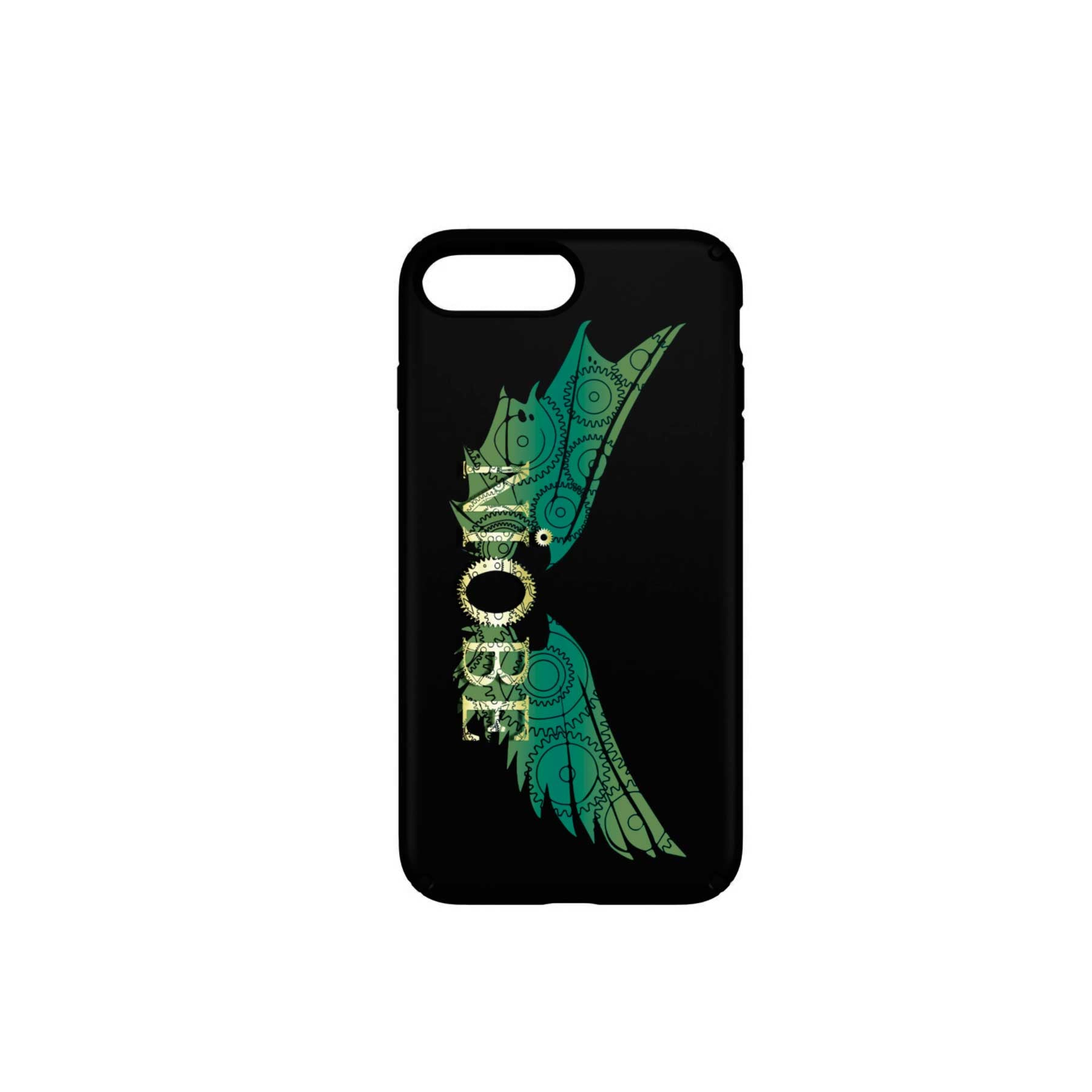 Niobe - Funda Móvil Black Green Wings - Merchanfy Imprime tus camisetas