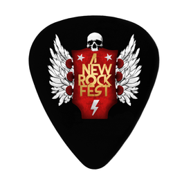 A New Label - 5 Púas Guitarra Decorativas A New Rock Fest - Merchanfy Imprime tus camisetas