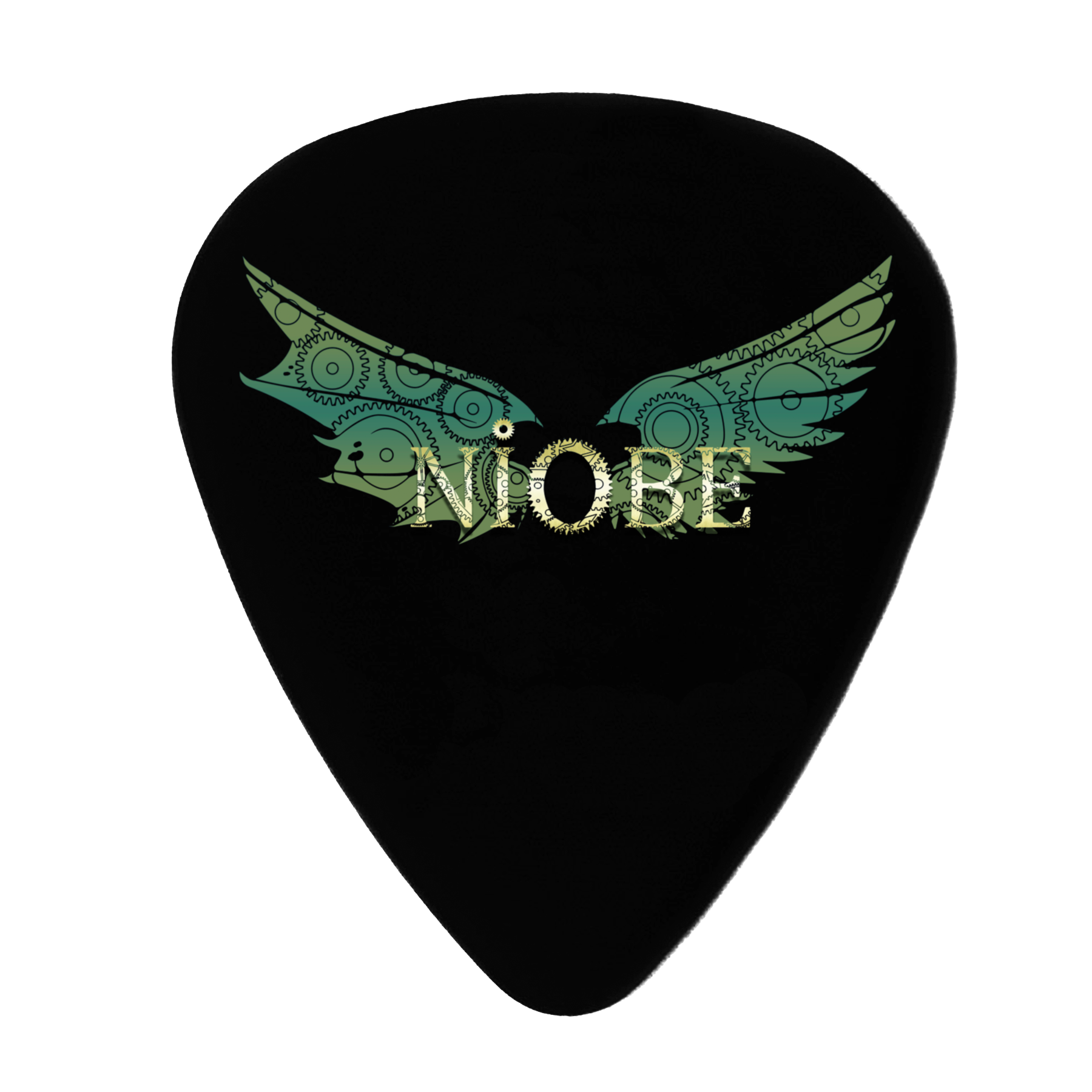 Niobe - 5 Púas Guitarra Decorativas Green Wings - Merchanfy Imprime tus camisetas