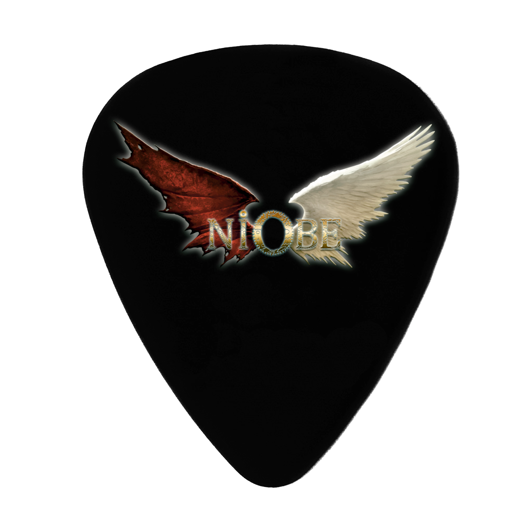 Niobe - 5 Púas Guitarra Decorativas White Wings - Merchanfy Imprime tus camisetas
