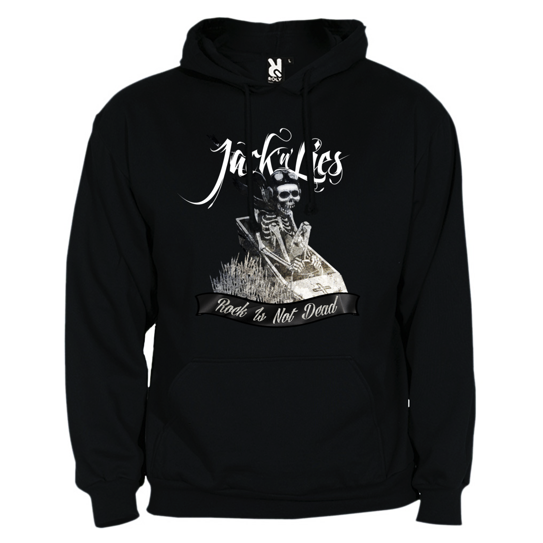 Jack'n'Lies - Sudadera Rock Is Not Dead - Merchanfy Imprime tus camisetas