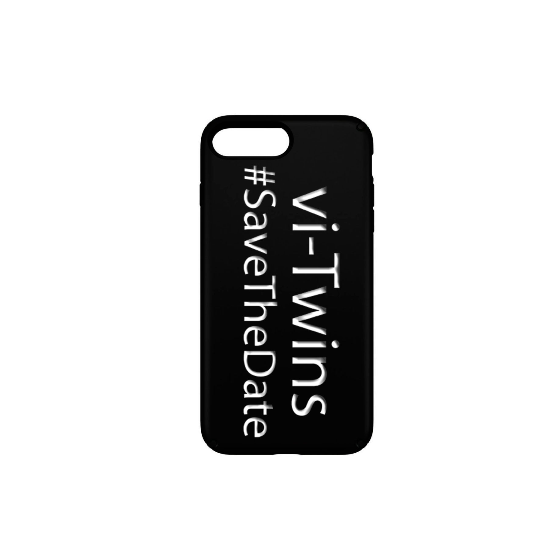 vi-Twins - Funda Móvil Black Save The Date White - Merchanfy Imprime tus camisetas