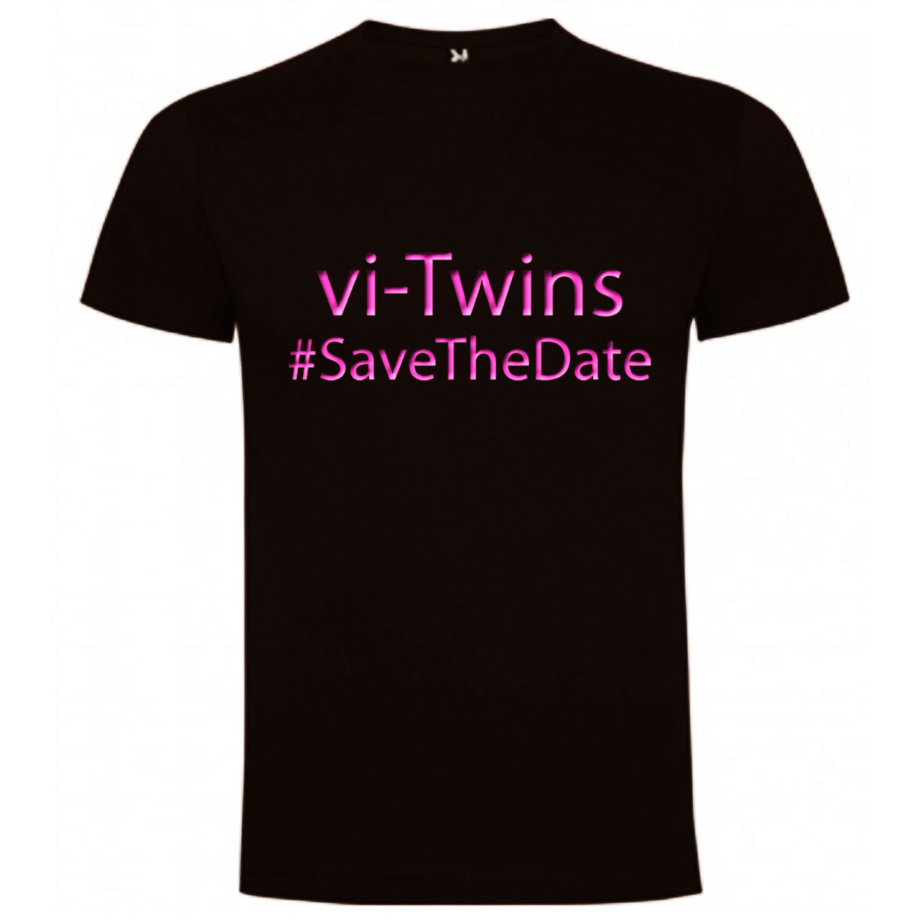 vi-Twins - Camiseta Save The Date Pink Chico - Merchanfy Imprime tus camisetas