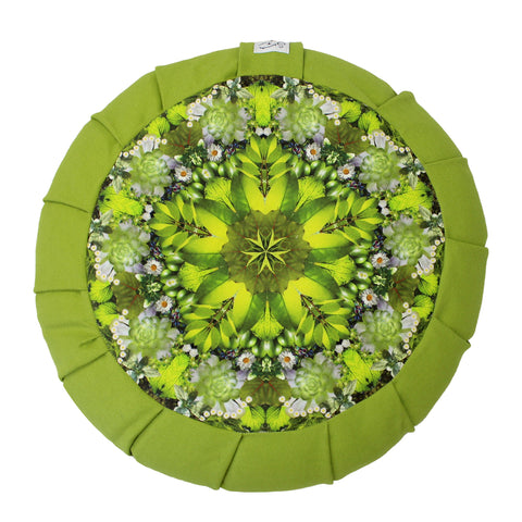 Green Prana Mandala Lotus Pillow