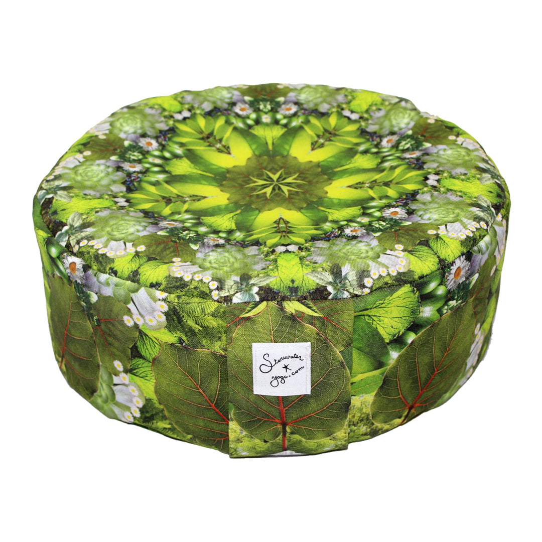 Green Prana Mandala Meditation Pillow