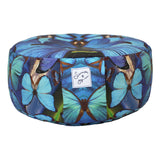 Blue Butterfly Mandala Meditation Pillow