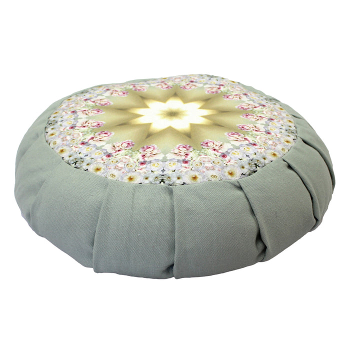 White Rose Crystal Lotus Pillow