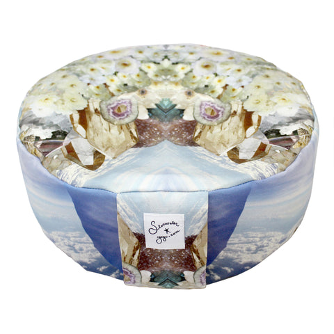 White Rose Crystal Meditation Pillow