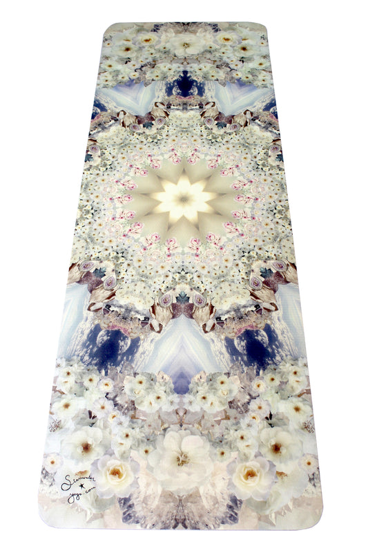 White Rose Crystal Yoga Mat