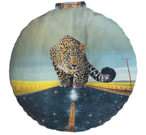 Leopard Future Meditation Pillow