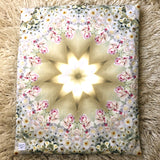 PEACE // White Rose Crystal Yoga Pillow