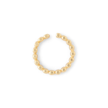 Pearly Hammered Earcuff //ONE PIECE
