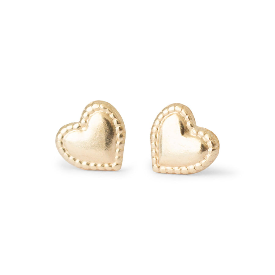 pair of gold filled heart studs