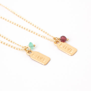 I Taggin Love Ya necklace gold filled or sterling silver
