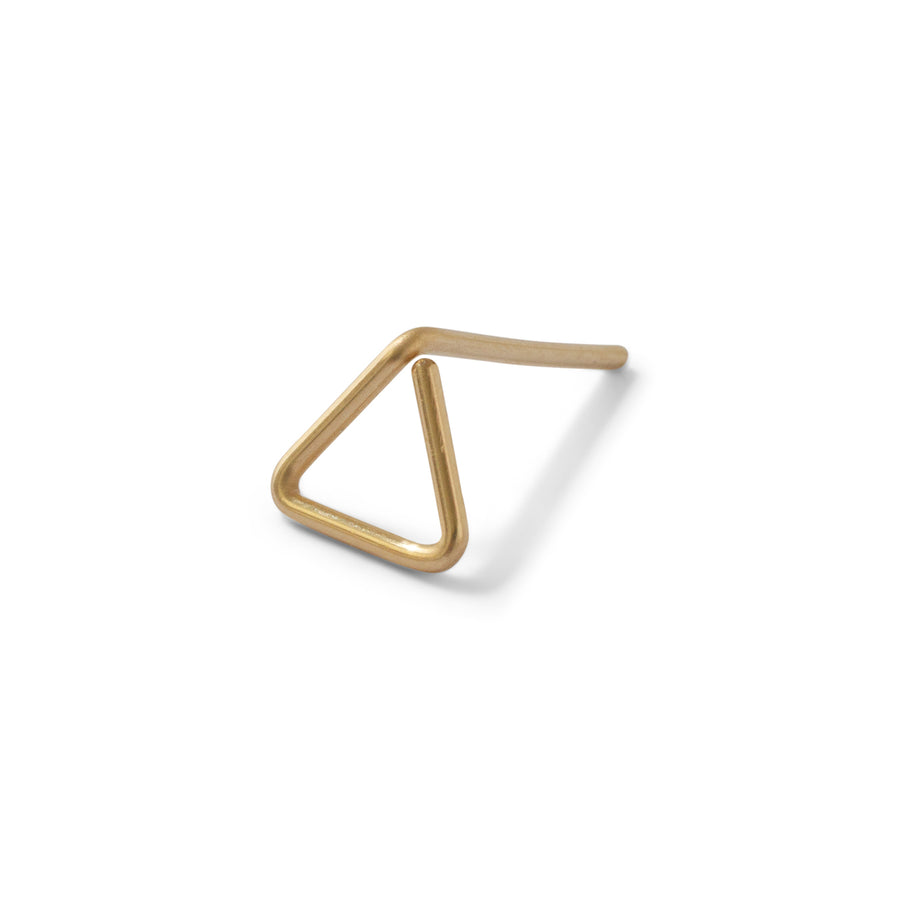Open Triangle stud //ONE PIECE